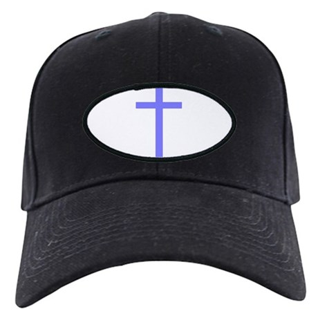 Purple Cross Black Cap