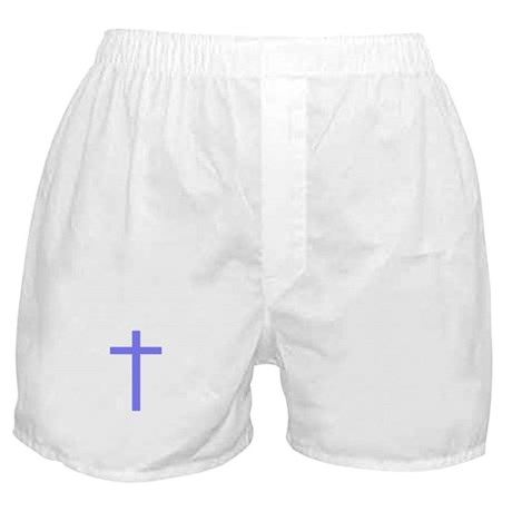 Purple Cross Boxer Shorts