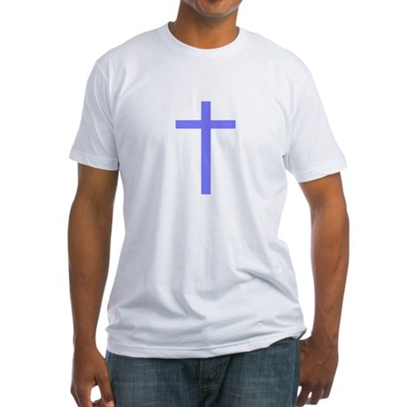 Purple Cross Fitted T-Shirt