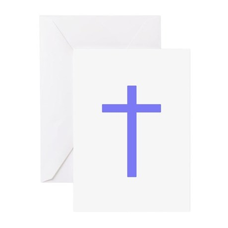Purple Cross Greeting Cards (Pk of 10)