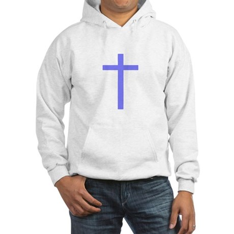 Purple Cross Hooded Sweatshirt