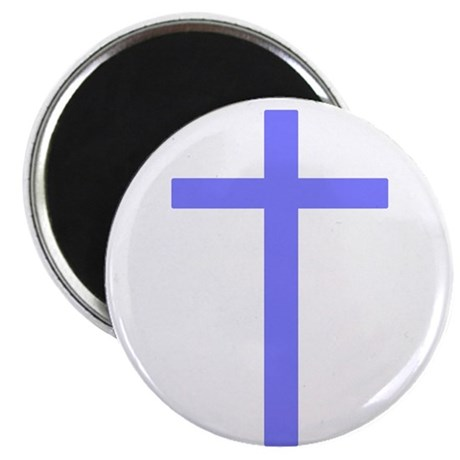 "Purple Cross 2.25"" Magnet (10 pack)"