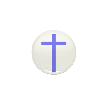 Purple Cross Mini Button