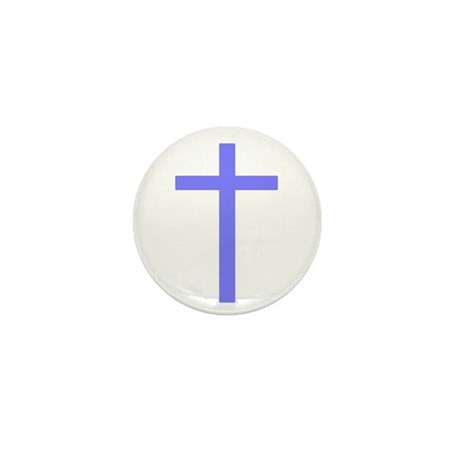 Purple Cross Mini Button (100 pack)