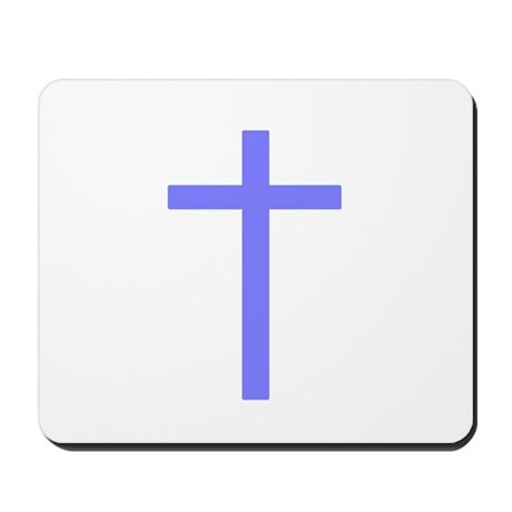 Purple Cross Mousepad