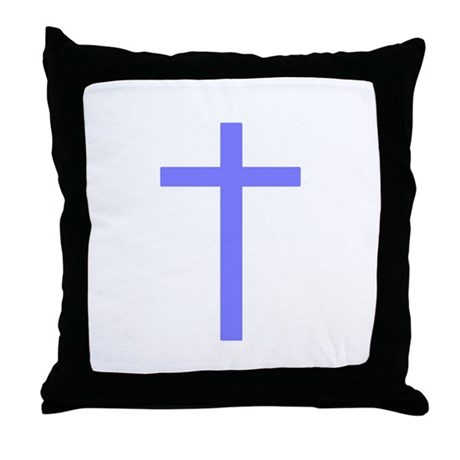 Purple Cross Throw Pillow