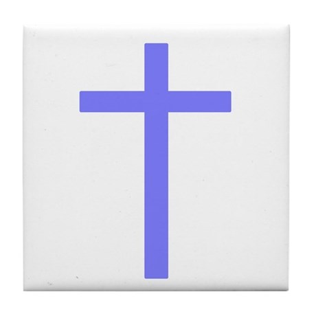 Purple Cross Tile Coaster