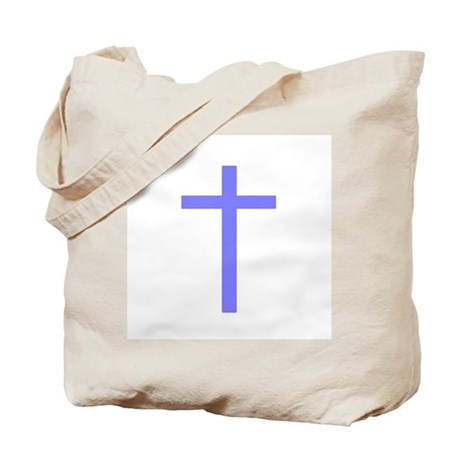 Purple Cross Tote Bag