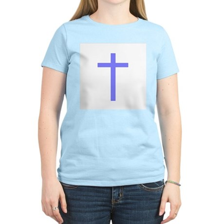 Purple Cross Women's Pink T-Shirt