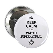 "Keep Calm and watch Supernatural 2.25"" Button"