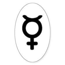 Mercury Symbol Oval Decal