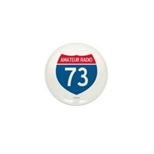 Amateur Radio Interstate Sign Mini Button (10 pack