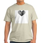 Xylophone Heart Ash Grey T-Shirt