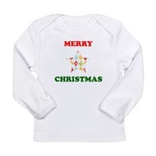 Merry Christmas Star Long Sleeve T-Shirt
