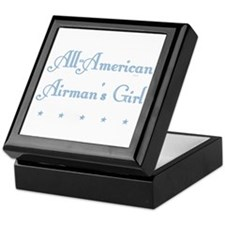 All-American blue Tile Keepsake Box (AF)