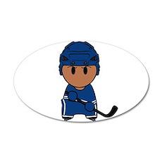 Super hockey player Yoshii 20x12 Oval Wall Decal