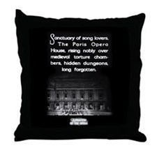 Paris Opera House Throw Pillow
