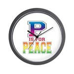 P is for Peace Wall Clock