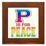 P is for Peace Framed Tile