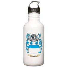 Mason Coat of Arms - Family Crest Water Bottle