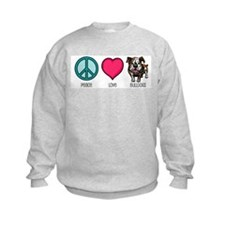 Peace Love & Bulldogs Sweatshirt