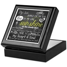 My Son Inspirational Keepsake Box
