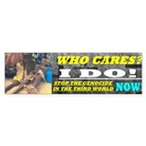 """I CARE"" BUMPERSTICKER"
