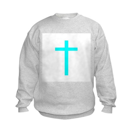 Teal Cross Kids Sweatshirt