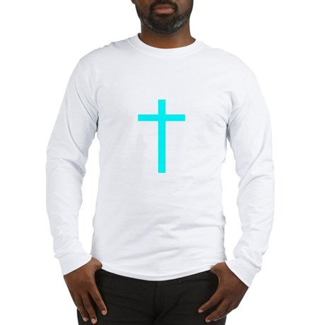 Teal Cross Long Sleeve T-Shirt