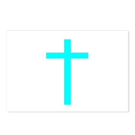 Teal Cross Postcards (Package of 8)