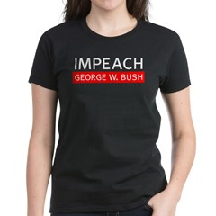 Impeach George W. Bush Womens Black T-Shirt