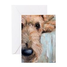 Airedale blues Greeting Card