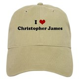 I Love Christopher James Baseball Cap