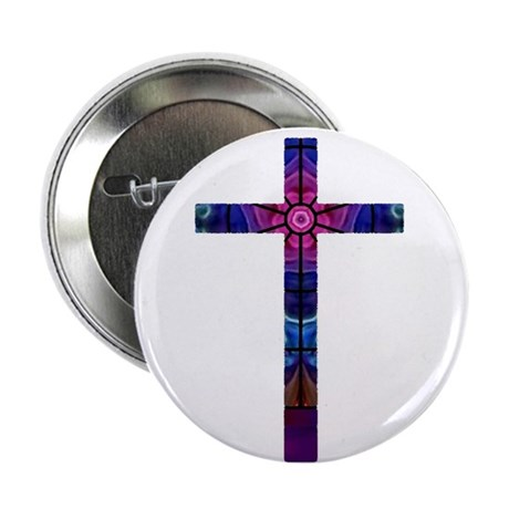 "Cross 012 2.25"" Button (100 pack)"