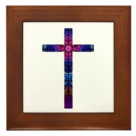 Cross 012 Framed Tile