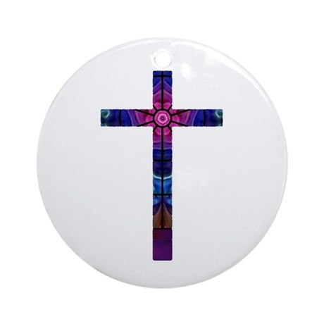 Cross 012 Ornament (Round)