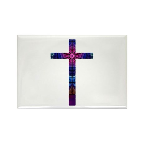 Cross 012 Rectangle Magnet