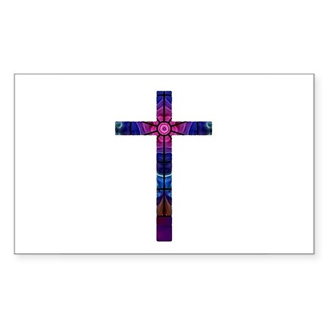 Cross 012 Rectangle Sticker