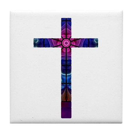 Cross 012 Tile Coaster