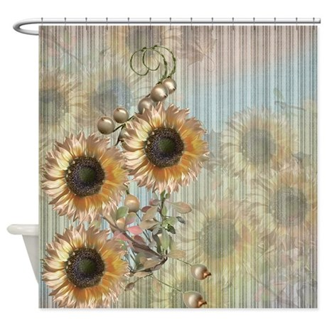 Country Sunflowers Shower Curtain By ALittleBitOfThis1
