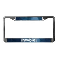"""Newbie"" License Plate Frame"