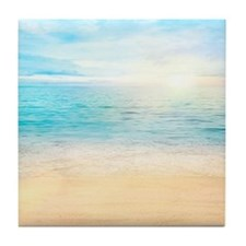 Beautiful Beach Tile Coaster