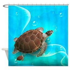 Cute Sea Turtles Shower Curtain