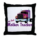 One Bad Mother Trucker Throw Pillow