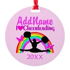LIVE TO CHEER Round Ornament
