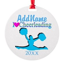 LOVE TO CHEER Round Ornament