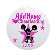 CHEERING CHAMP Ornament (Round)