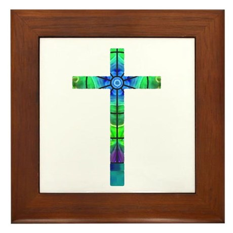 Cross 013 Framed Tile
