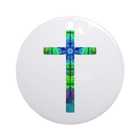 Cross 013 Ornament (Round)