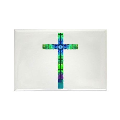 Cross 013 Rectangle Magnet (100 pack)